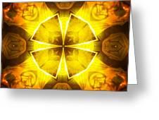 Golden Harmony - 4 Greeting Card