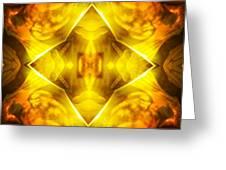 Golden Harmony  Greeting Card