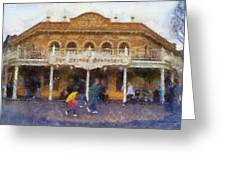 Golden Horseshoe Frontierland Disneyland Photo Art 02 Greeting Card