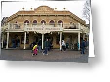 Golden Horseshoe Frontierland Disneyland Greeting Card