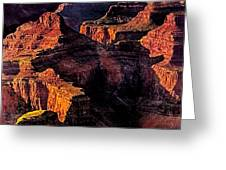 Golden Hour Mather Point Grand Canyon National Park Greeting Card