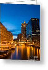 Golden Hour Milwaukee River Greeting Card