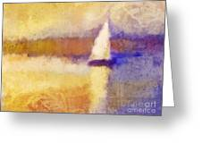 Golden Hour Sailing Greeting Card