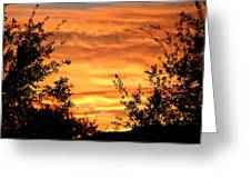 Golden Hour Sunset Greeting Card