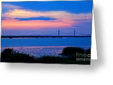 Golden Isles Bridge Greeting Card