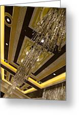 Golden Jewels And Gems - Sparkling Crystal Chandeliers  Greeting Card