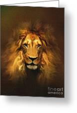 Golden King Lion Greeting Card