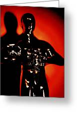 Golden Man In Shadow Greeting Card