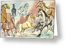 Golden Mare Greeting Card