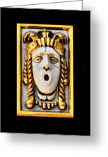 Golden Mask II Greeting Card
