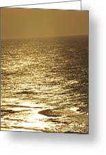 Golden Moonlight Or Moon Surface Greeting Card