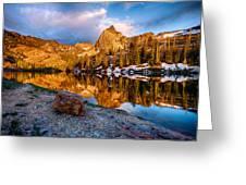 Golden Mountain Light Greeting Card