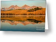 Golden Mountains  Reflection Greeting Card