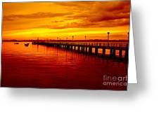 Golden Nature Greeting Card by Boon Mee