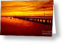 Golden Nature Greeting Card