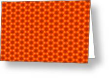 Golden Orange Honeycomb Hexagon Pattern Greeting Card
