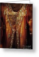 Golden Oriental Dress Greeting Card