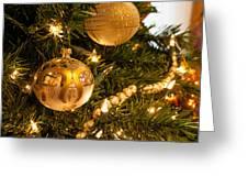 Golden Ornaments Greeting Card