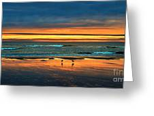 Golden Pacific Greeting Card by Robert Bales