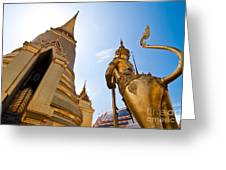 Golden Pagoda And Monster Greeting Card