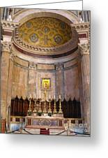 Golden Pantheon Altar Greeting Card