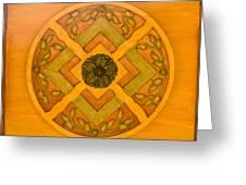 Golden Pattern 1 Greeting Card