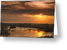 Golden Payette River Greeting Card