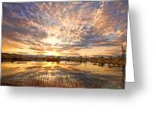 Golden Ponds Scenic Sunset Reflections 2 Greeting Card