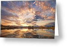 Golden Ponds Scenic Sunset Reflections 3 Greeting Card