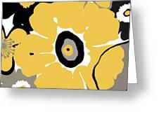 Golden Pop Flower Greeting Card