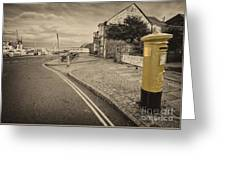 Golden Post  Greeting Card