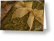 Golden Present Greeting Card