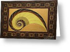 Golden Ratio Spiral Greeting Card
