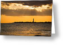 Golden Rays At Cape May Greeting Card