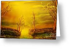 Golden Rays-original Sold-buy Giclee Print Nr 35 Of Limited Edition Of 40 Prints  Greeting Card