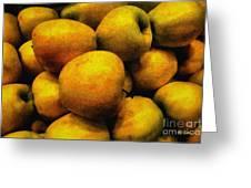 Golden Renaissance Apples Greeting Card