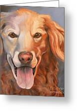 Golden Retriever Till There Was You Greeting Card by Susan A Becker