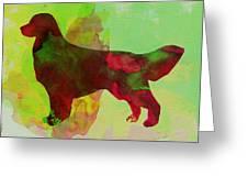 Golden Retriever Watercolor Greeting Card