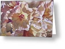 Golden Rhododendronfull Greeting Card