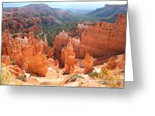 Golden Rocks Of Bryce Canyon  Greeting Card