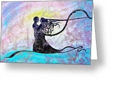 Golden Romance Greeting Card