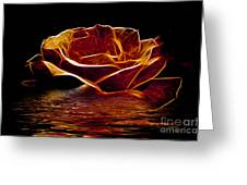 Golden Rose Greeting Card