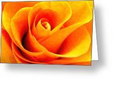 Golden Rose - Digital Painting Effect Greeting Card