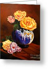 Golden Roses Jenny Lee Discount Greeting Card