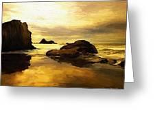 Golden Sands Greeting Card