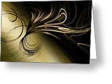 Golden Scroll Greeting Card