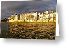 Golden Seine Greeting Card