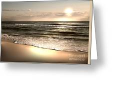 Golden Shoreline Greeting Card by Jeffery Fagan