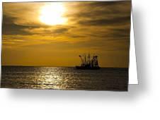 Golden Shrimpers Greeting Card