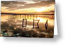 Golden Skies Greeting Card